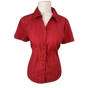 Sonoma Stretch Short Sleeve Blouse Top button up